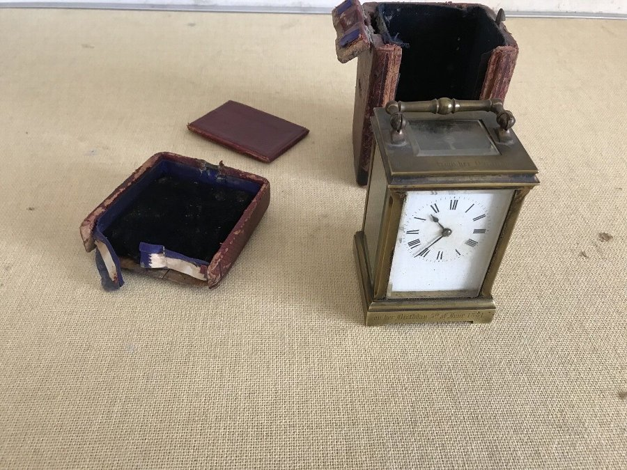carriage clock Dated 1881