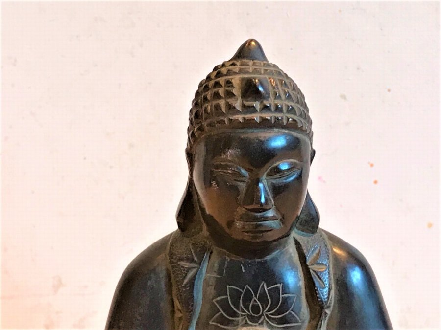 Antique Buddha Victorian Bronze Incense Burner