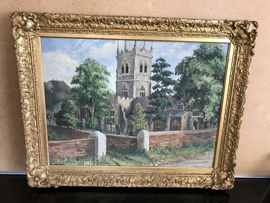 Victorian Framed Painting By John Freeman