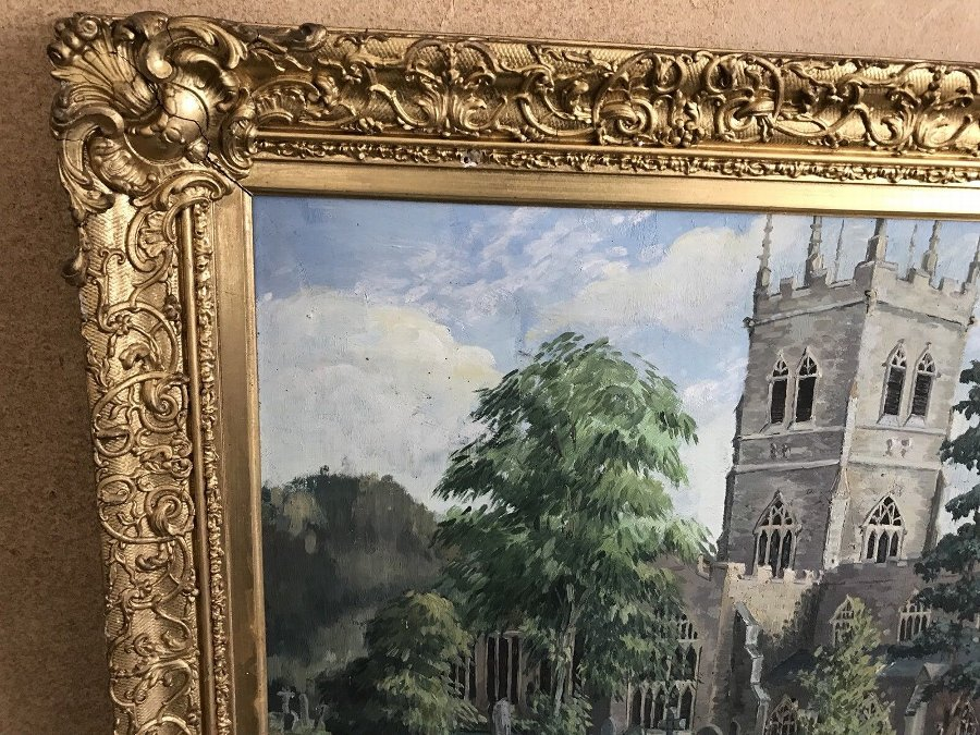 Antique Victorian Framed Painting By John Freeman