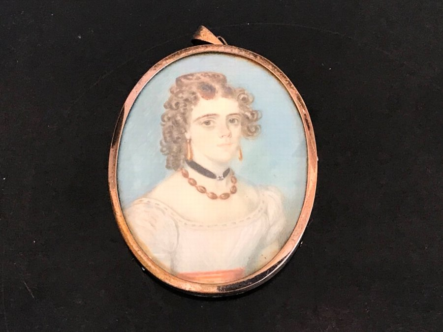 Miniature Painting of Beautiful Woman of the Regency Period