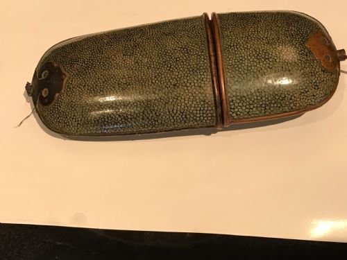 Shagreen Victorian spectacle /cigar case