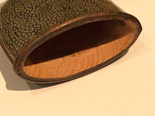 Antique Shagreen Victorian spectacle /cigar case