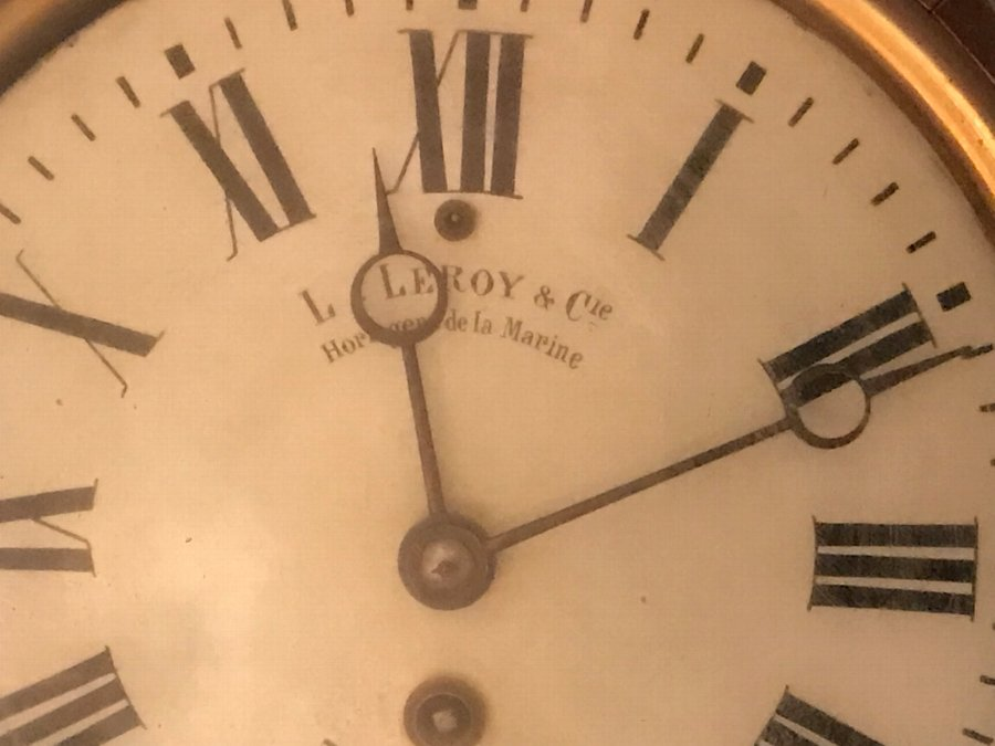 Antique You can buy this now rare French Leroy Of Paris marine wall clock