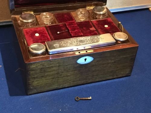 Antique Victorian lady's rosewood vanity box