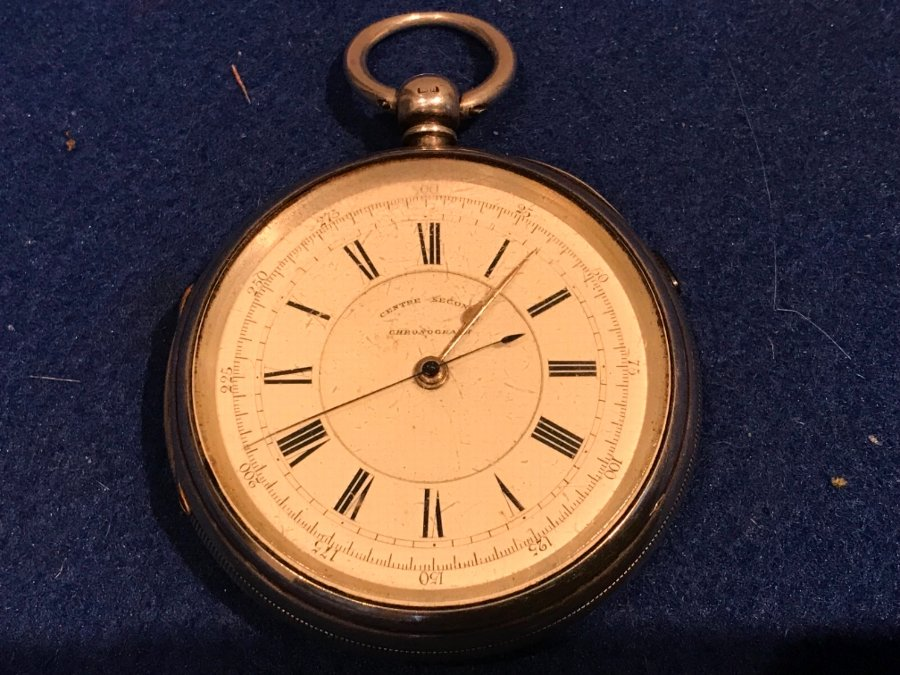 Coventry Made Chronograph Silver Cased Pocket Watch