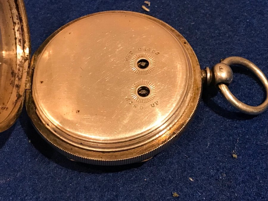 Antique Coventry Made Chronograph Silver Cased Pocket Watch