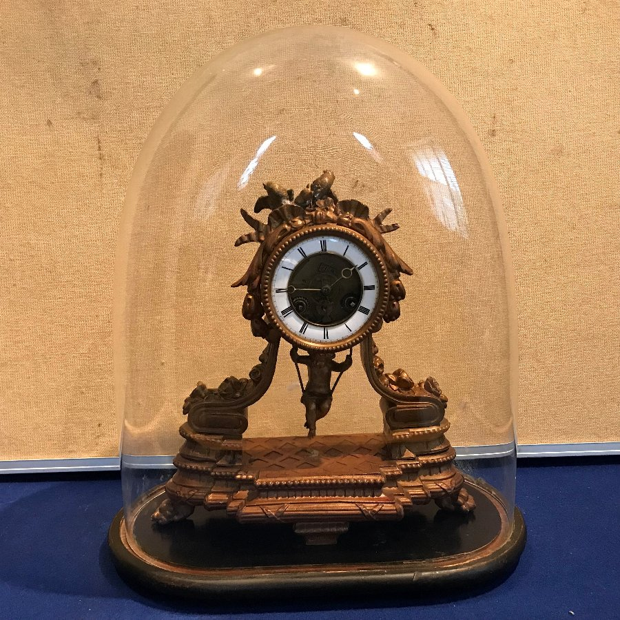 Rare French cherub on a swing clock, can be bought as not a mass auctions pages listings