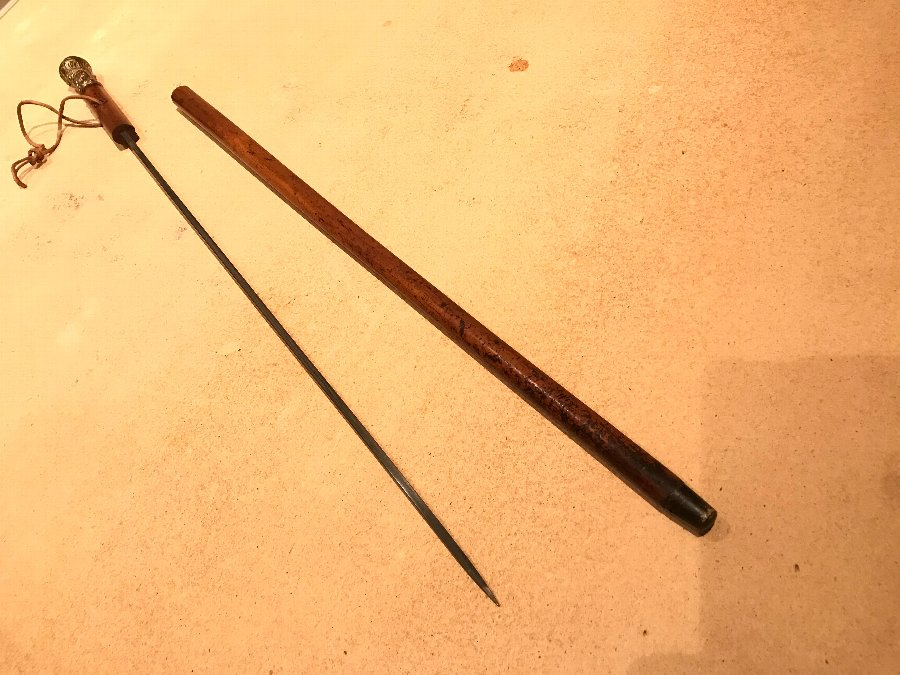 Antique British army Officers walking stick come sword stick this can be purchased now. As not a mass pages of auction items