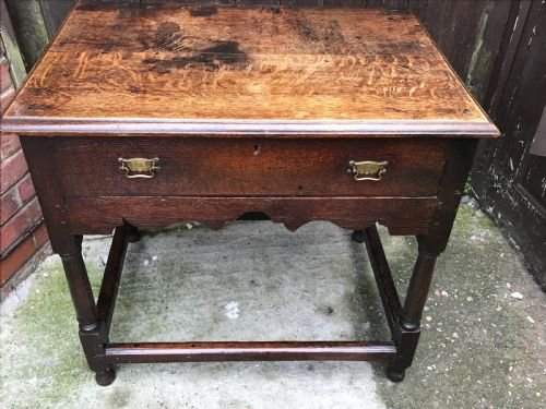 Oak side table Georgian 1750's
