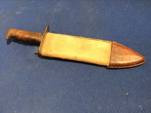 Rare American Dough boys soldiers 1ww fighting knife with sccabard