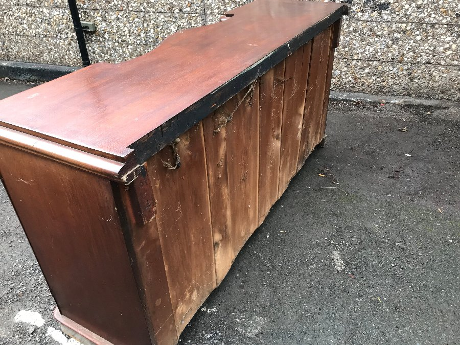 Antique Victorian sideboard 4 door mahogany