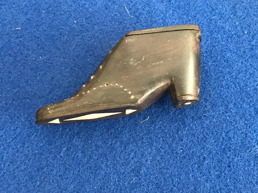 Snuff Box In Shape Of Shoe. Victorian