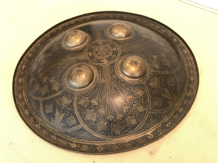 early 18th century Islamic shield large in size heavily decorated