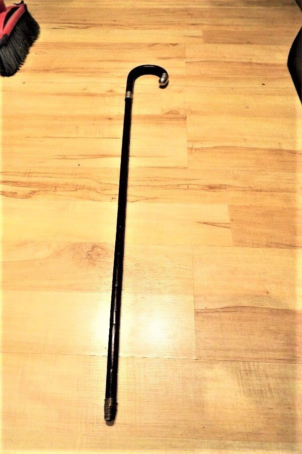 Gentleman's walking stick/ sword stick with silver hall marked mount