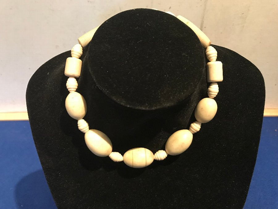 Victorian ivory necklace