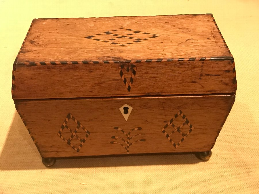 Rare Georgian Wedding gift tea caddy