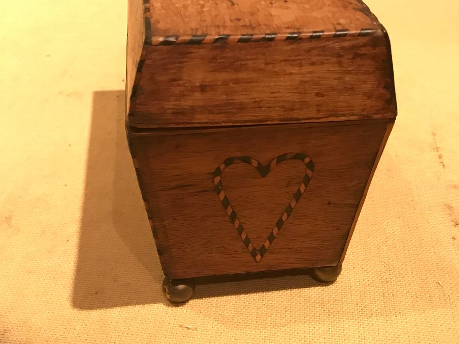 Antique Rare Georgian Wedding gift tea caddy
