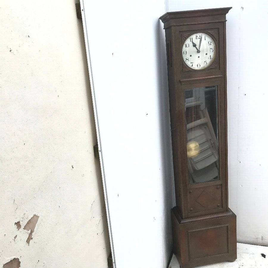 Edwardian Oak long-cased clock
