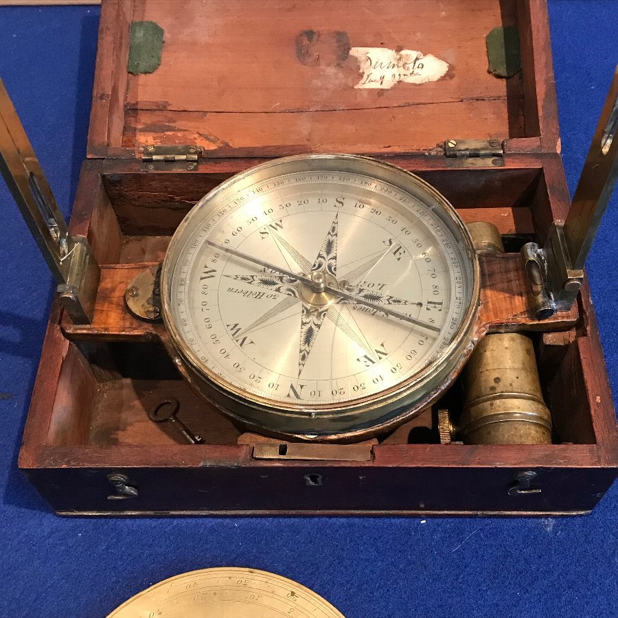 Georgian Mine's Compass Mahogany cased by W & S Jones 30 Holborn London