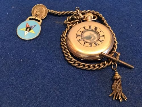 Masonic Waltham Gold Plated Half Hunter Pocket Watch