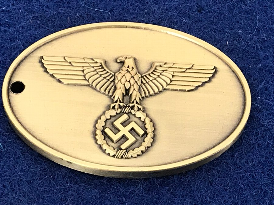 Antique German 2ww Gestapo members identification warrant