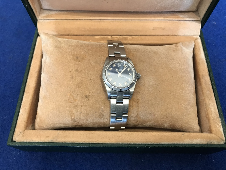 Rolex Watch  lady's stainless steel bracelet