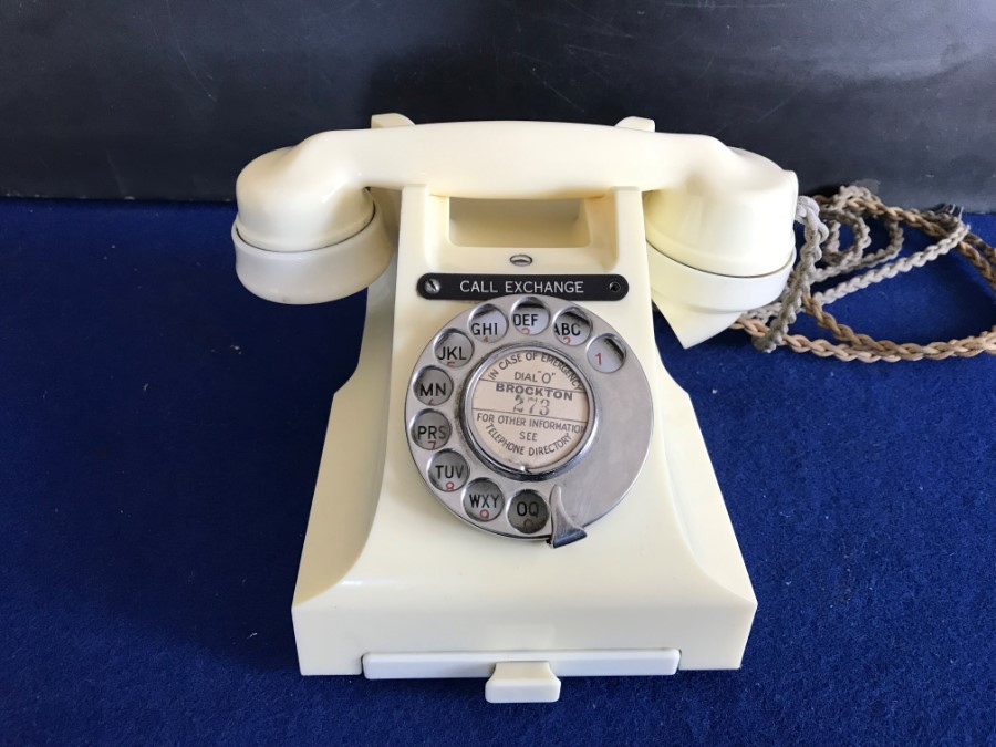 Art Deco styled White GPO issued telephone fantastic looker