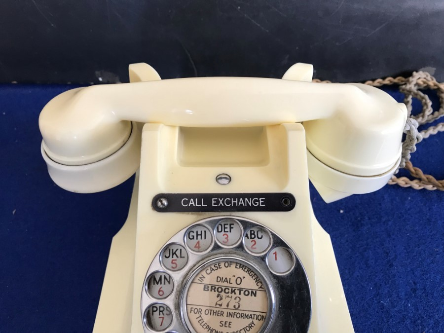 Antique Art Deco styled White GPO issued telephone fantastic looker
