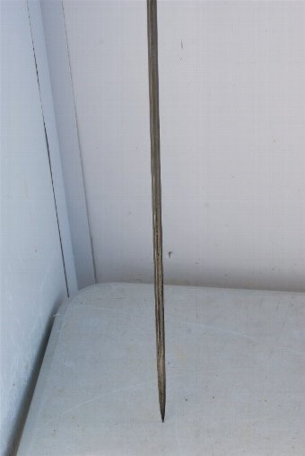 Antique Horn crook handled walking stick come sword stick