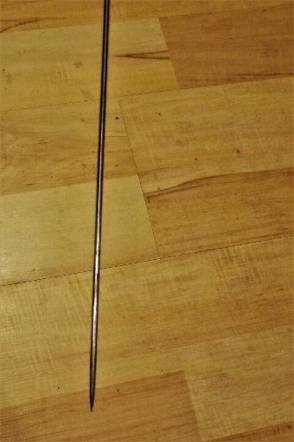 Antique Gentlemans sword stick  silver mounts