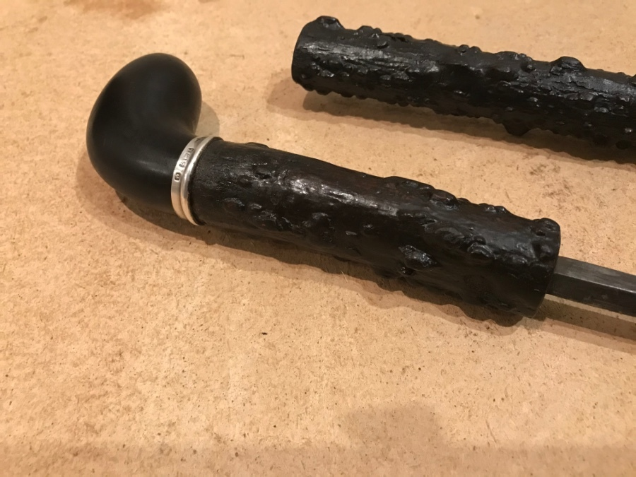 Antique Irish Blackthorn gentleman's walking stick sword stick