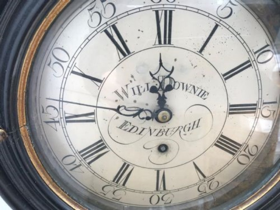 Antique Rare Antique Parliment Wall Clock Made By William Downie  Of Edinburgh