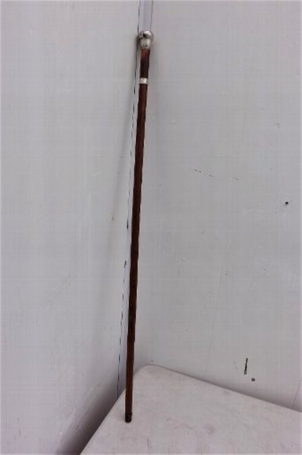 Gentmans walking/sword stick  silver mounts