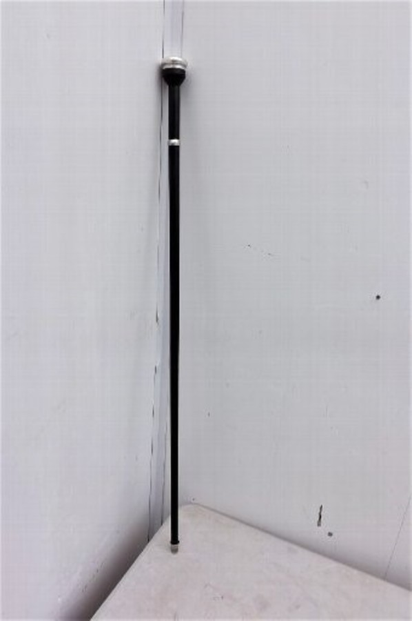 Sword stick with silver mounts