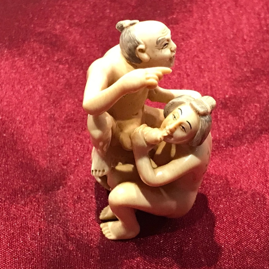 Erotic, Japanese ivory carving