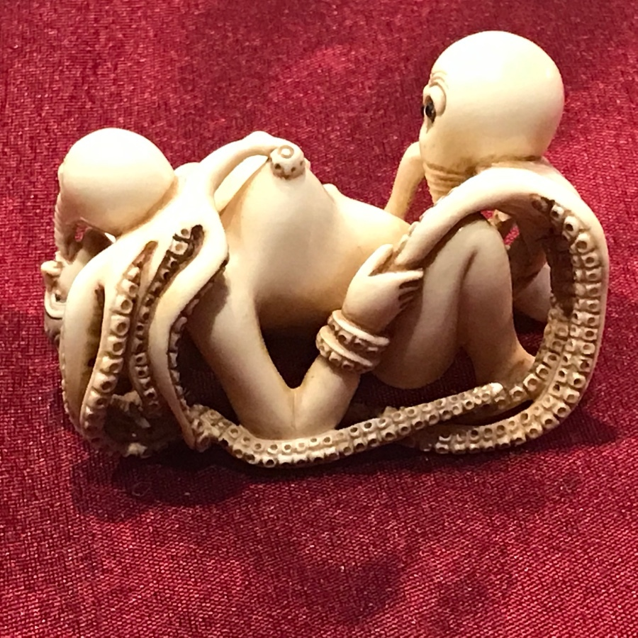 Erotica Japanese ivory carving