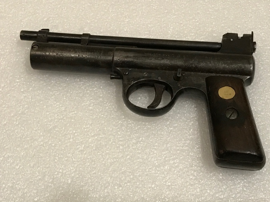 Antique 1920's Webley MK1 target air pistol