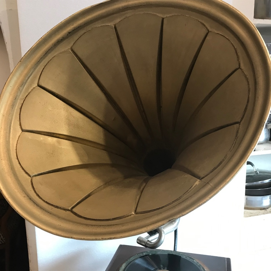 Antique Horn Gramophone His Masters Voice