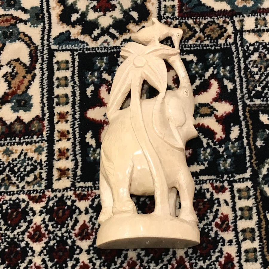 Antique Ivory Elephant carving Victorian
