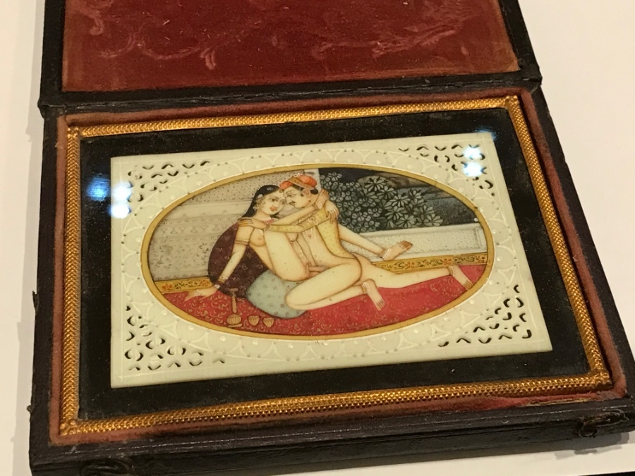 Erotica Karma Sutra painting on ivory