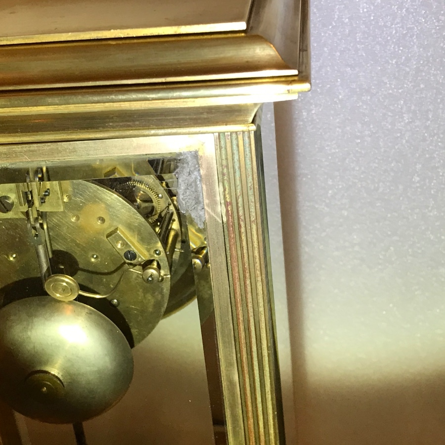 Antique Superb Victorian French glass sided visible escapement  movement