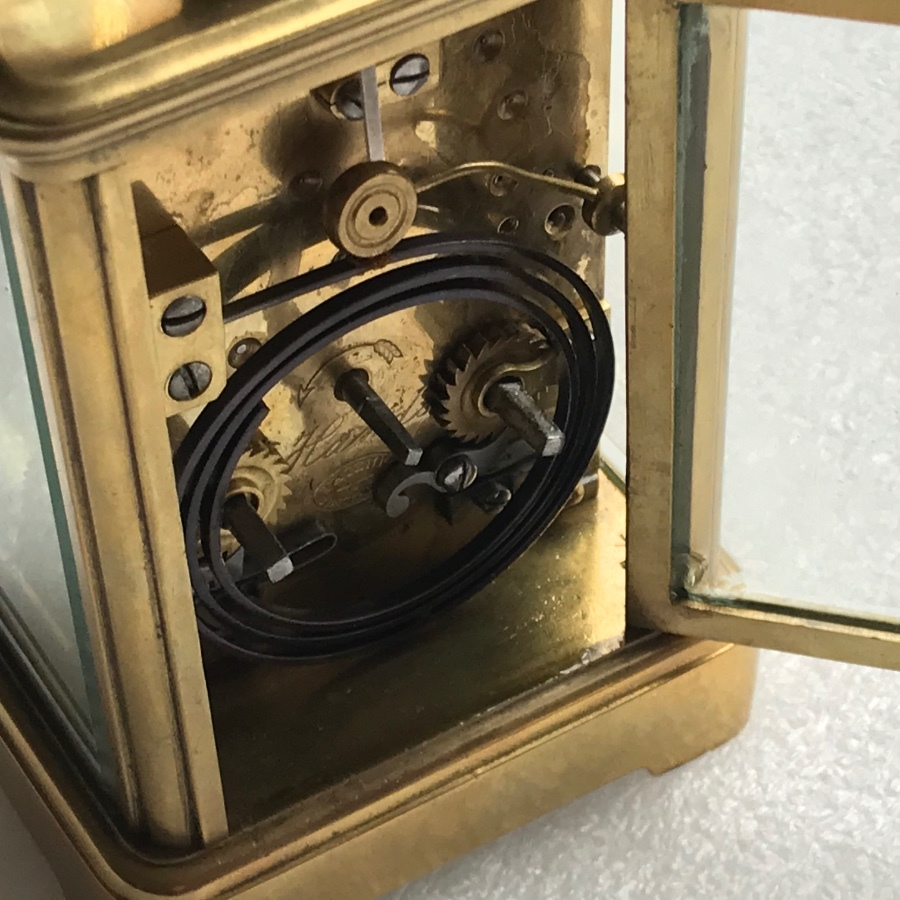Antique Carriage clock repeater on a gong
