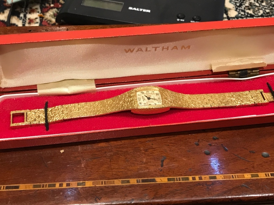 Ladies Waltham gold plated wristwatch