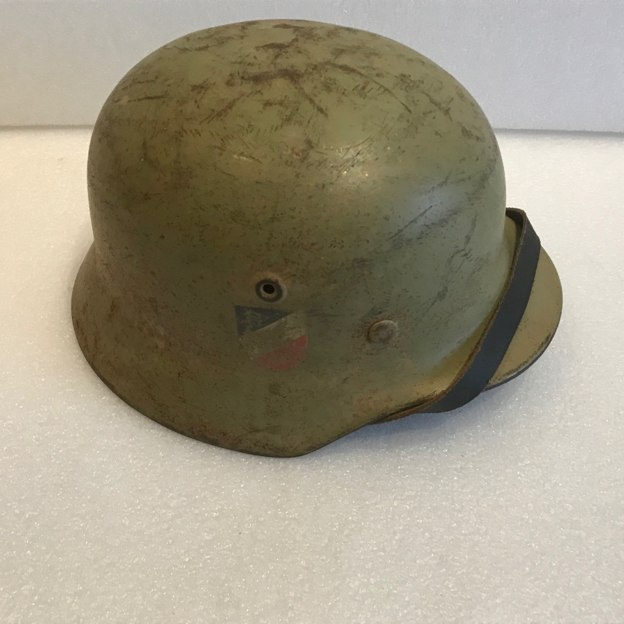 GENUINE GERMAN AFRICA CORP SOLDIERS HELMET