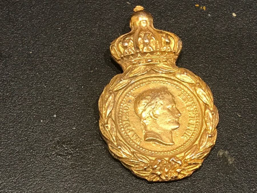 Antique Napoleon medal French Military