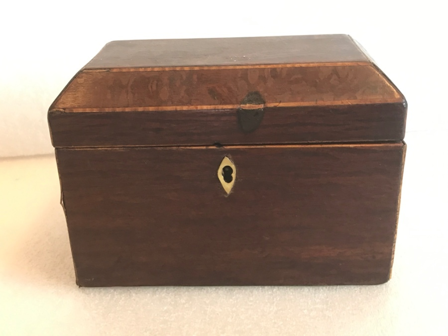 Tea caddy mahogany