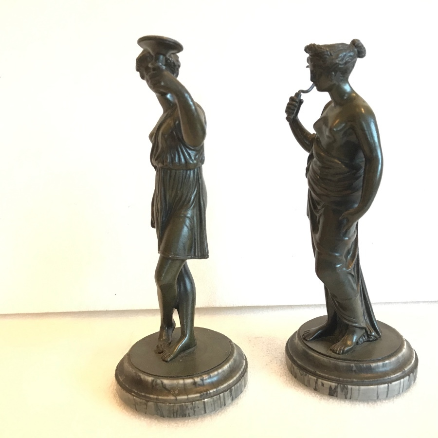 Antique Bronze neoclassical figures