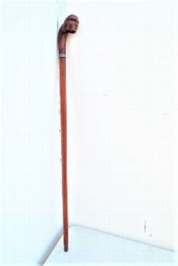 Sword stick carved in the late 18th century Solingen blade