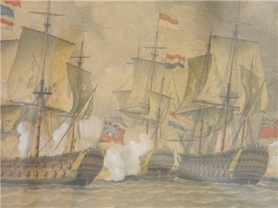 Antique THE BLUE SQUADRON IN ACTION AT DOGGER BANK 1871